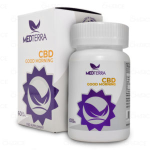 Medterra Good Morning CBD Capsules 25mg, bottle