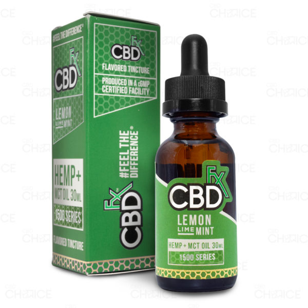 CBDfx Lemon Lime Mint Oil, 1500mg