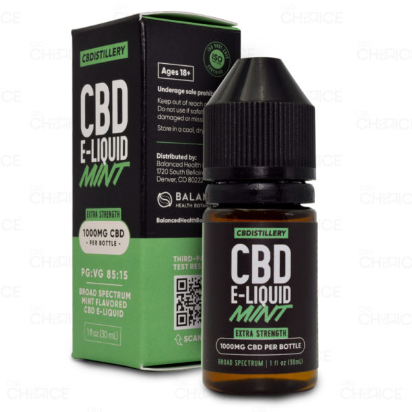 CBDistillery Mint E-liquid 1000mg